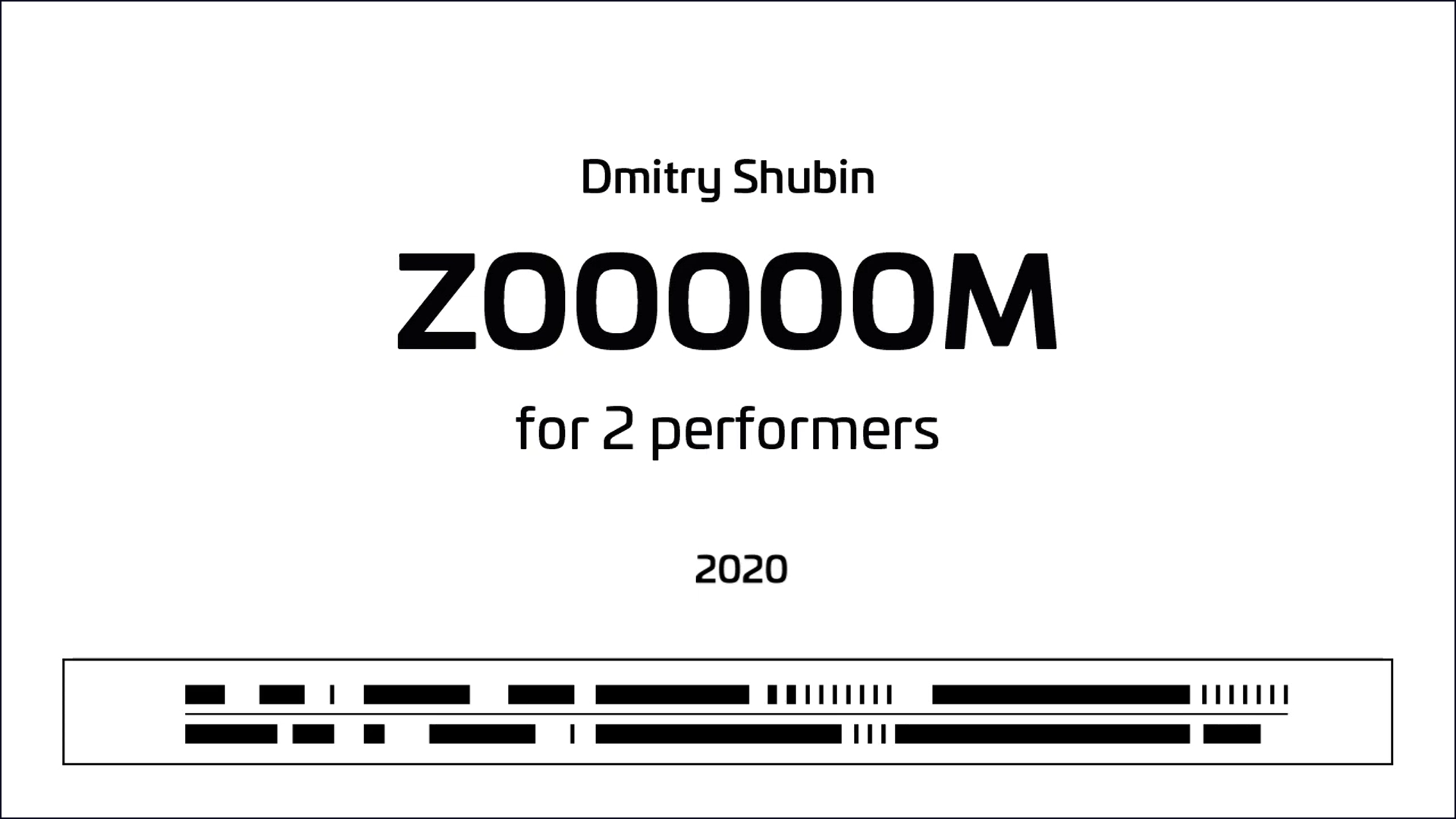ZOOOOOM: Video score for using with ZOOM software